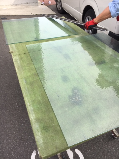篠栗町のガラス交換(単板ガラス)